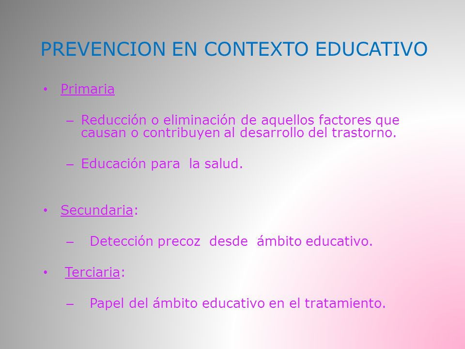 PREVENCION EN CONTEXTO EDUCATIVO
