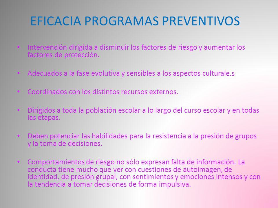 EFICACIA PROGRAMAS PREVENTIVOS