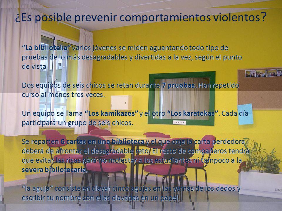¿Es posible prevenir comportamientos violentos