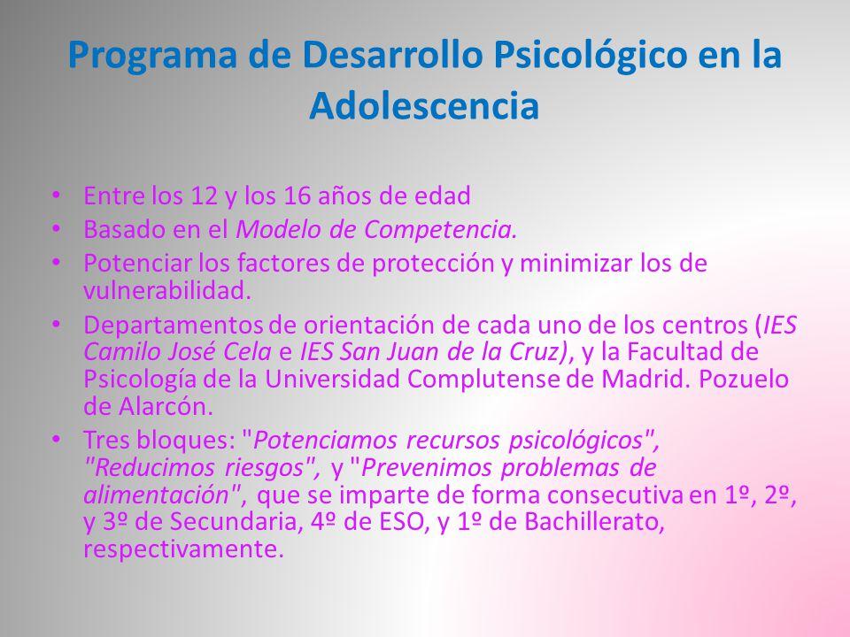 Programa de Desarrollo Psicológico en la Adolescencia