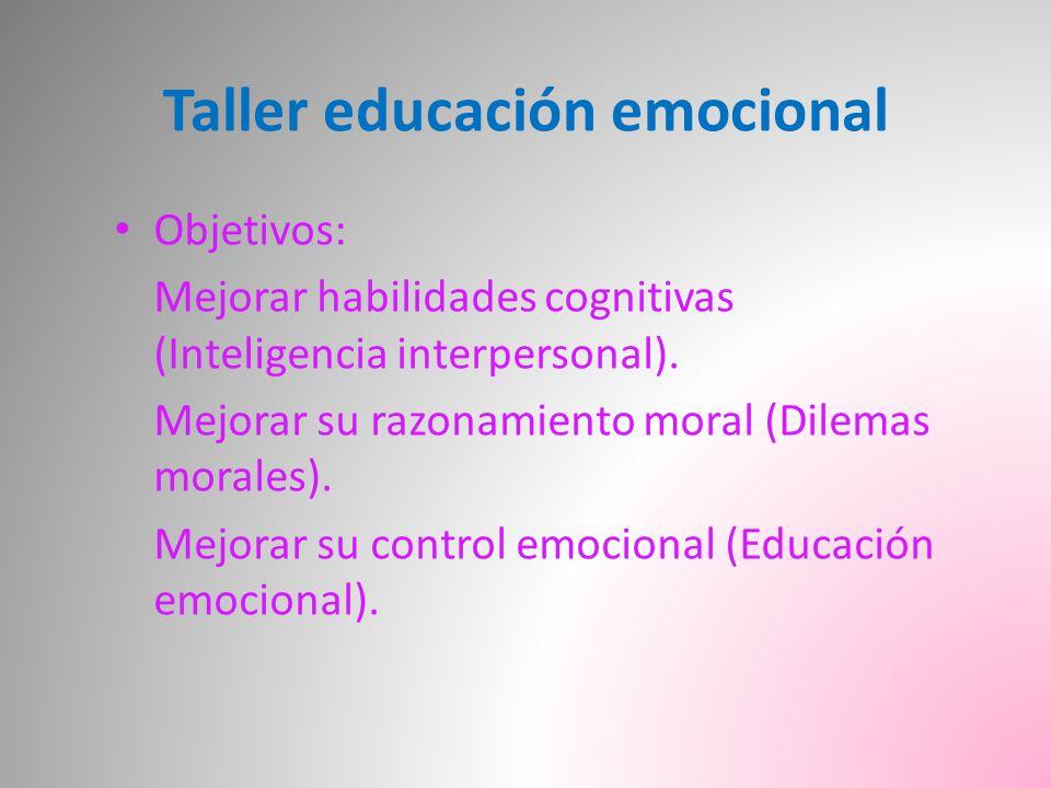 Taller educación emocional