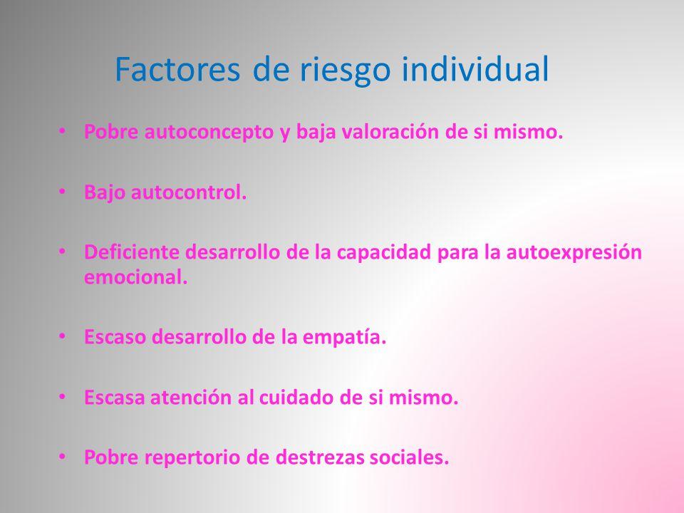 Factores de riesgo individual