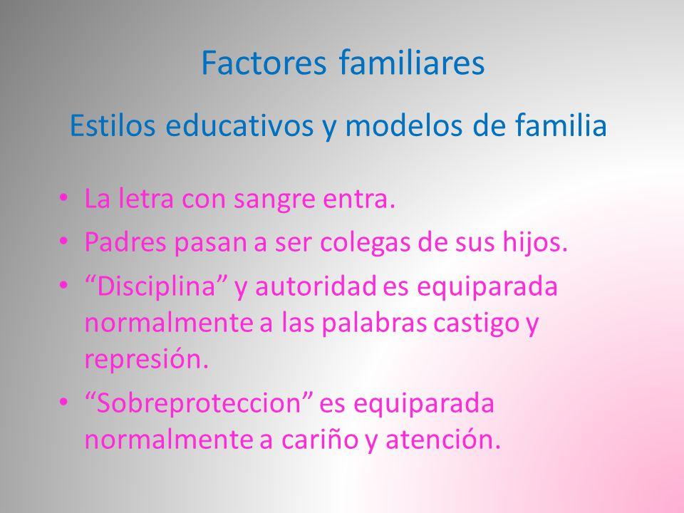 Factores familiares Estilos educativos y modelos de familia