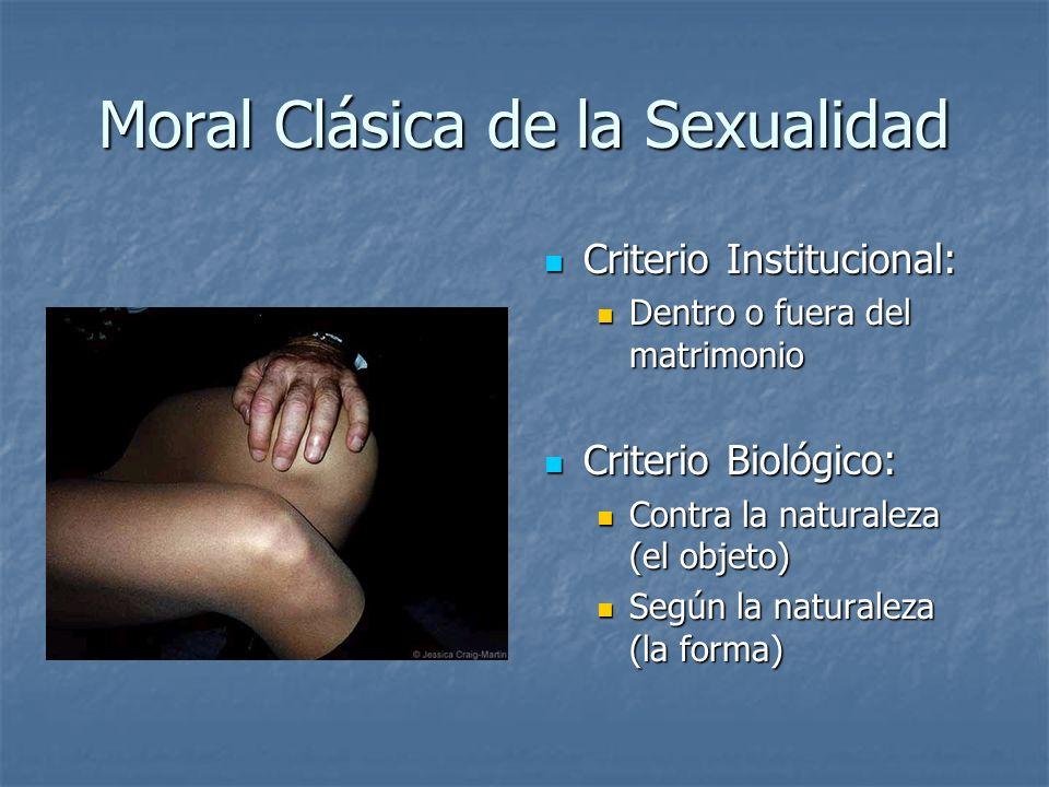 Moral Clásica de la Sexualidad