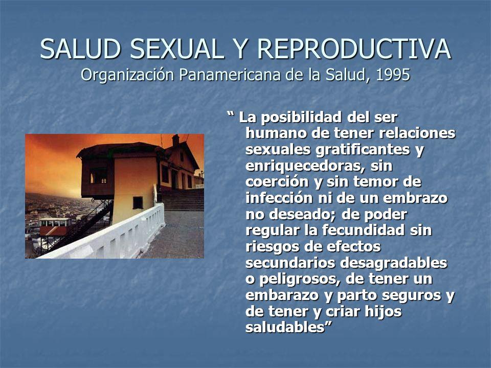 SALUD SEXUAL Y REPRODUCTIVA Organización Panamericana de la Salud, 1995