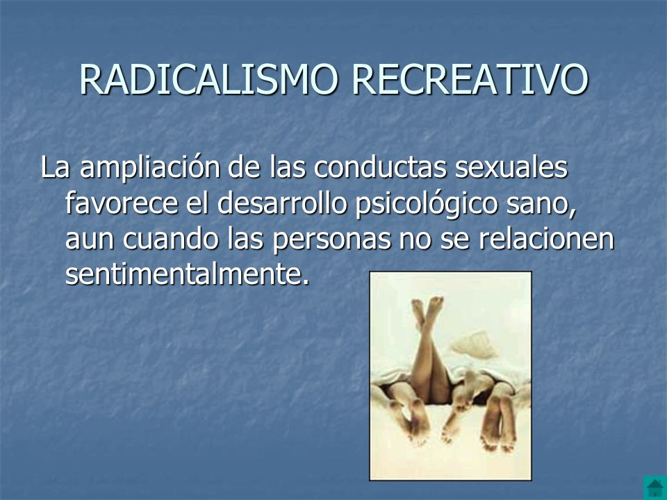 RADICALISMO RECREATIVO