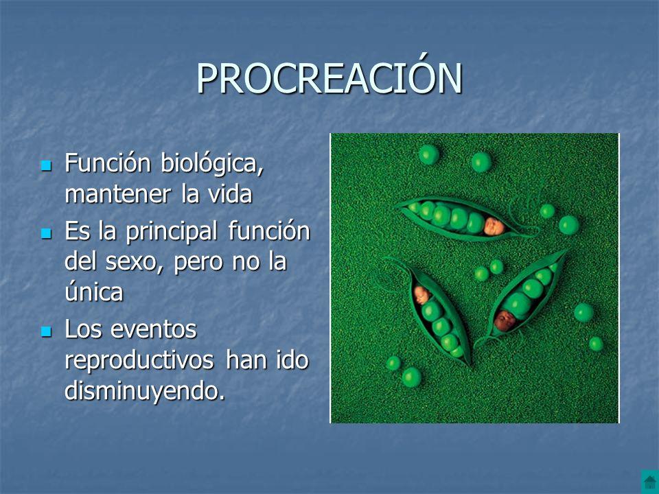 PROCREACIÓN Función biológica, mantener la vida