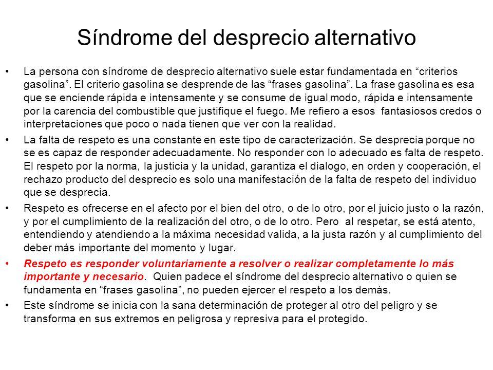 Síndrome del desprecio alternativo