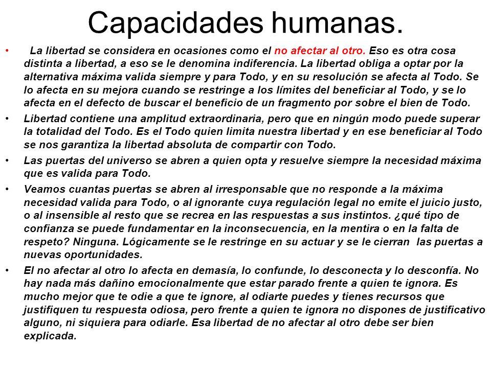 Capacidades humanas.