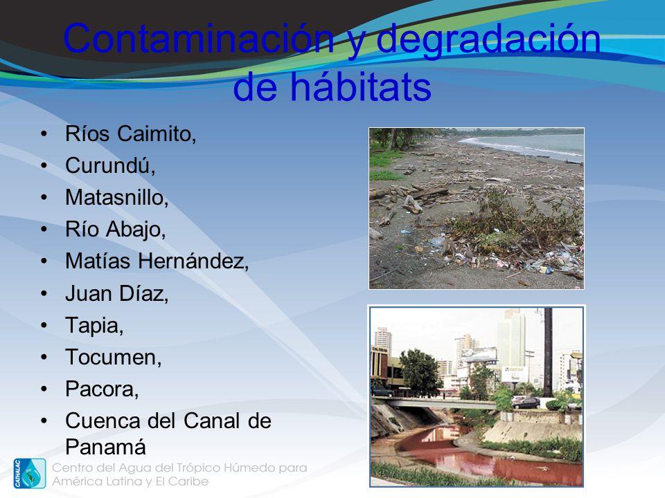 Contaminación y degradación de hábitats