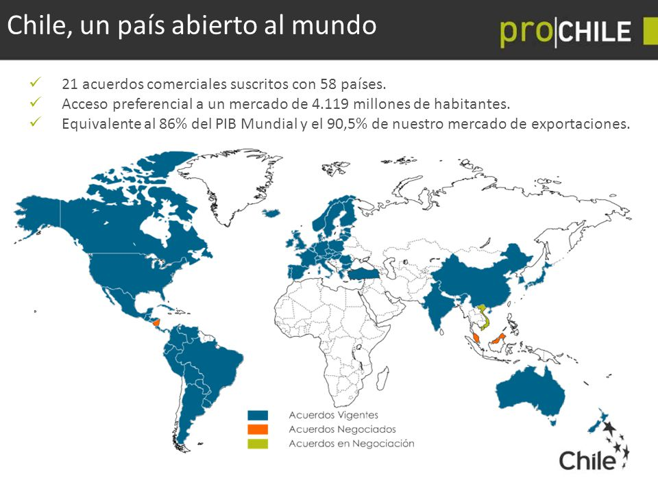 Chile, un país abierto al mundo