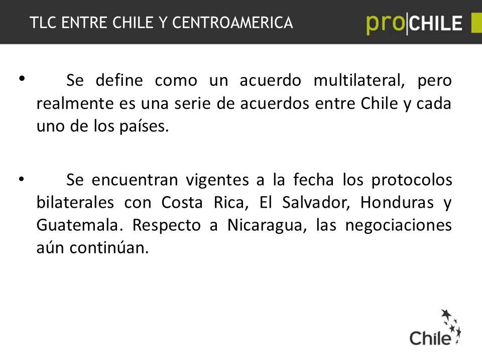 TLC ENTRE CHILE Y CENTROAMERICA