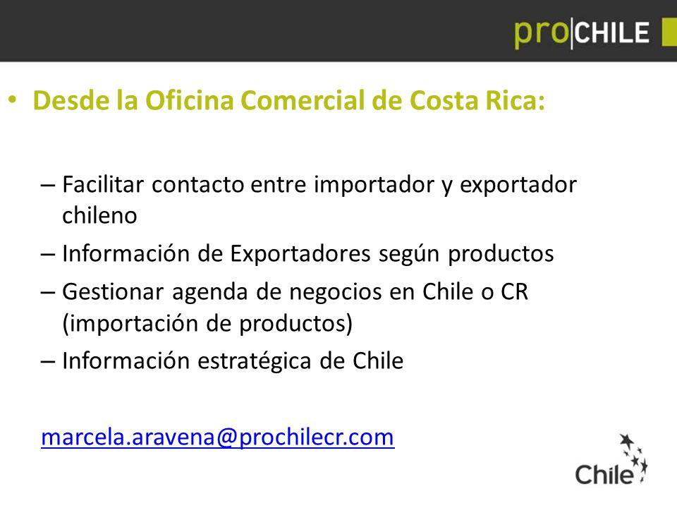 Desde la Oficina Comercial de Costa Rica: