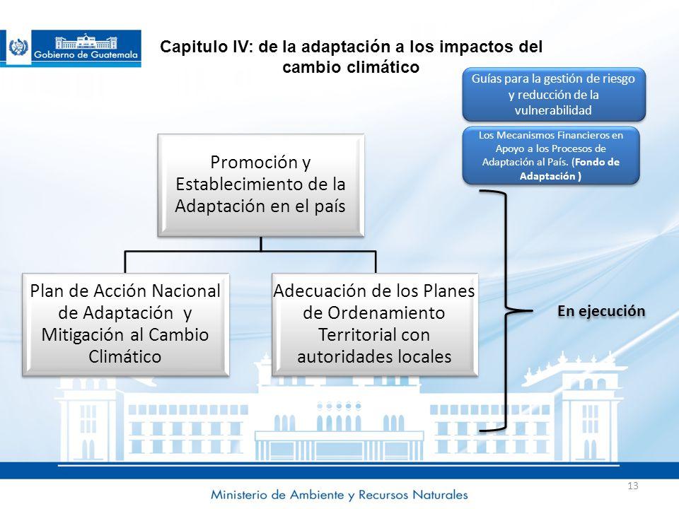 Capitulo IV: de la adaptación a los impactos del