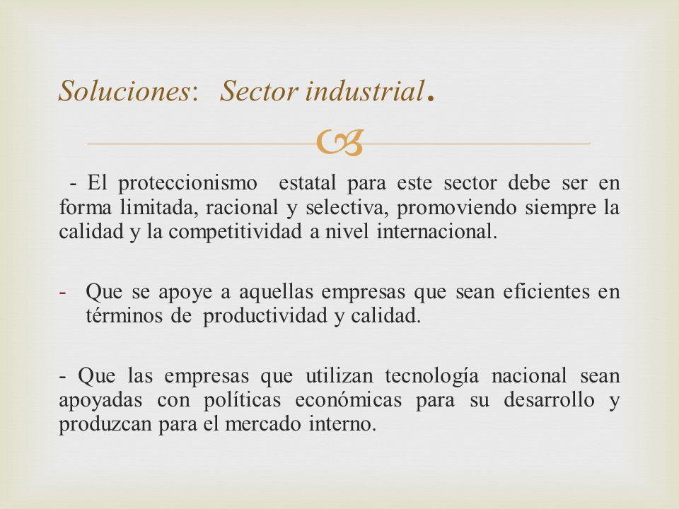 Soluciones: Sector industrial.
