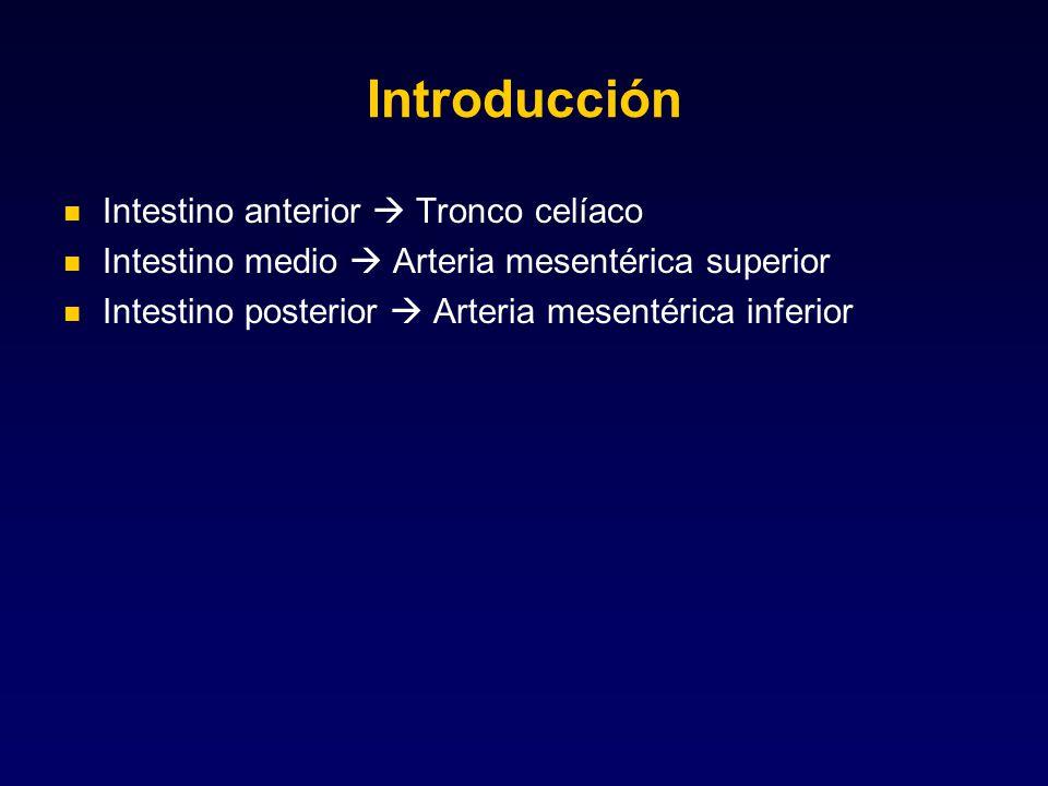 Introducción Intestino anterior  Tronco celíaco