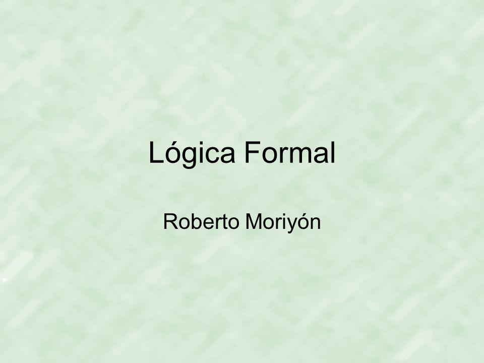 Lógica Formal Roberto Moriyón