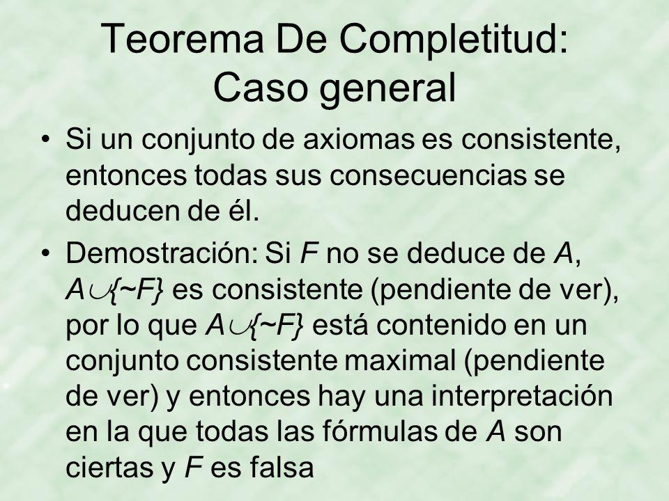 Teorema De Completitud: Caso general