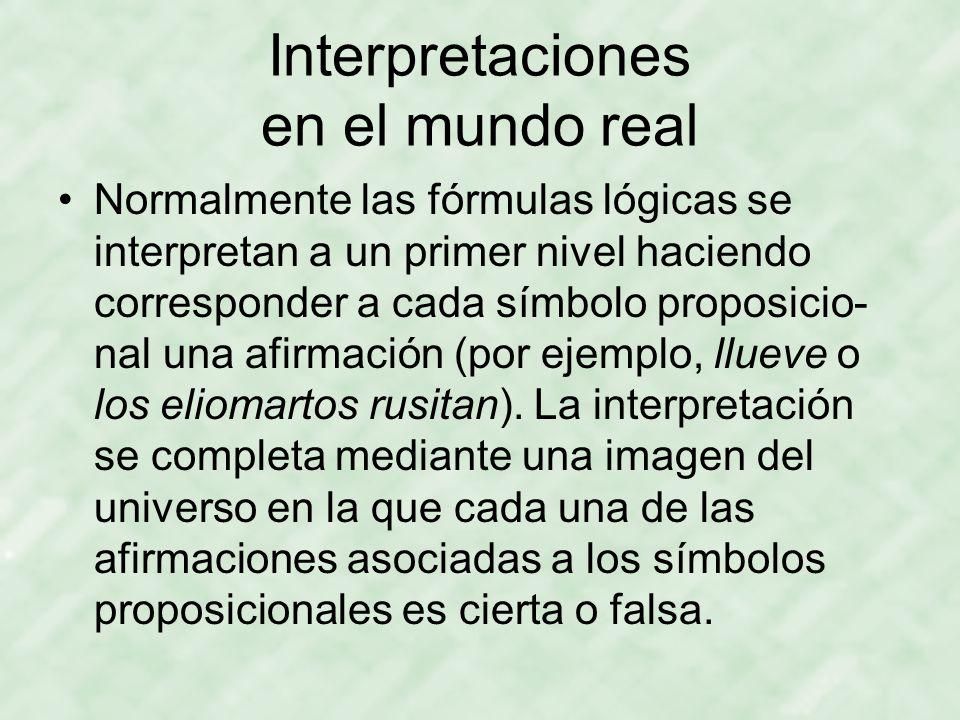 Interpretaciones en el mundo real