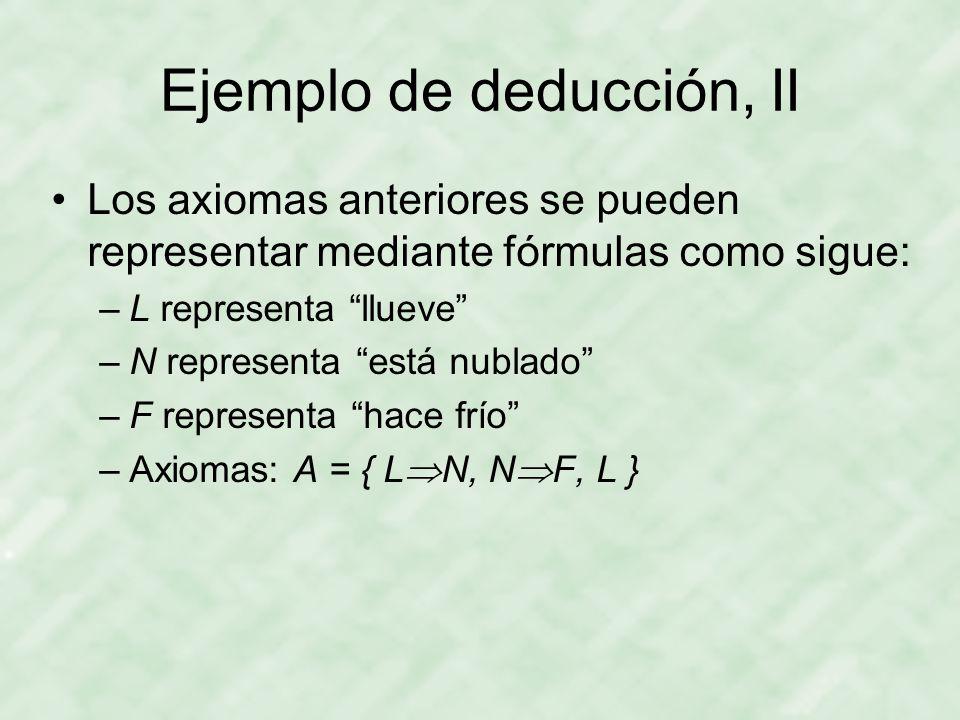 Ejemplo de deducción, II