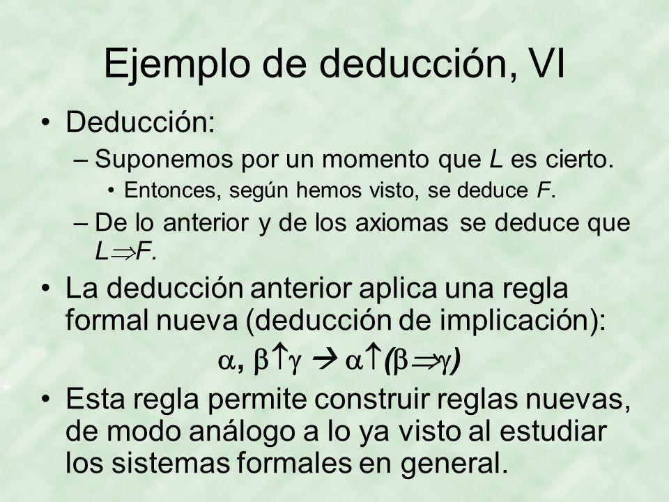 Ejemplo de deducción, VI