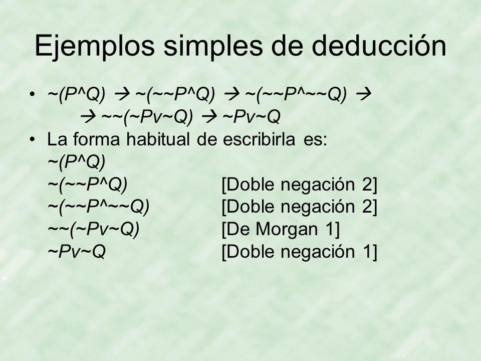 Ejemplos simples de deducción