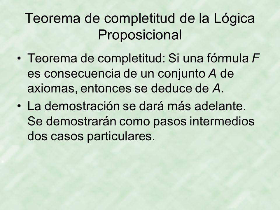 Teorema de completitud de la Lógica Proposicional