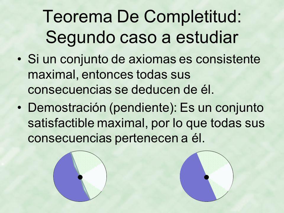 Teorema De Completitud: Segundo caso a estudiar