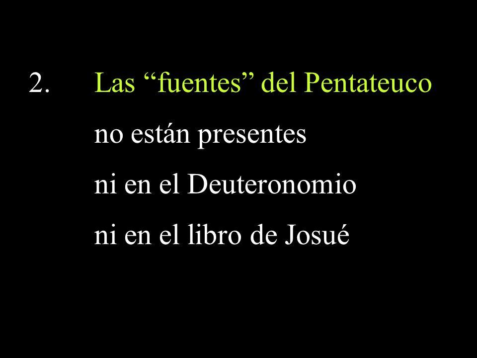 Las fuentes del Pentateuco