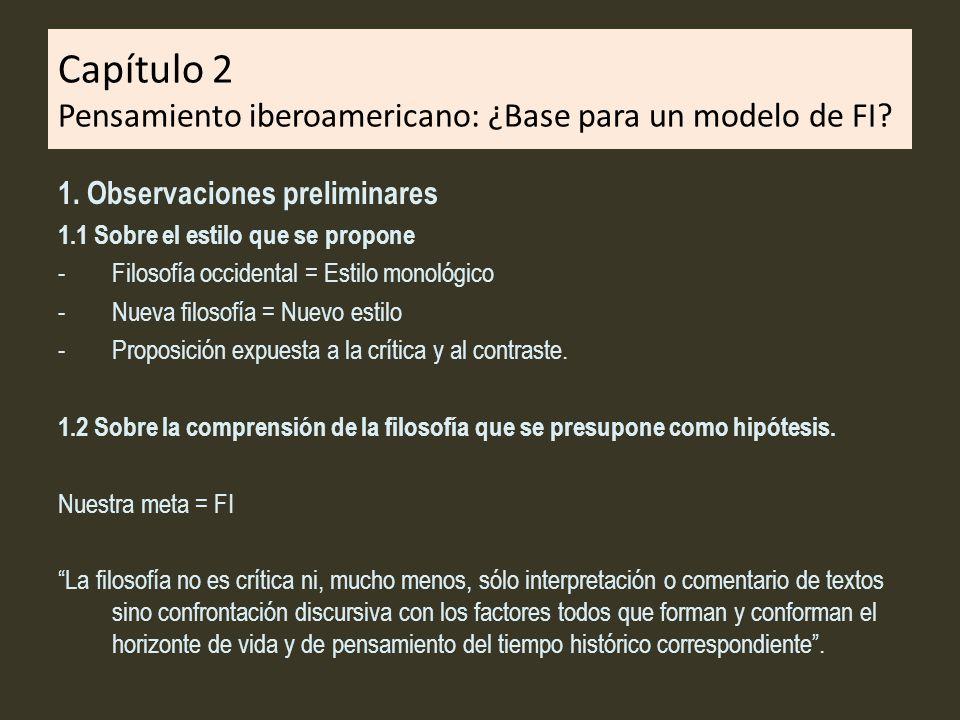 Capítulo 2 Pensamiento iberoamericano: ¿Base para un modelo de FI