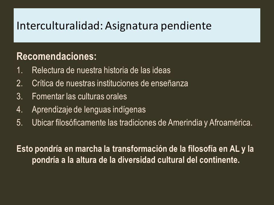 Interculturalidad: Asignatura pendiente