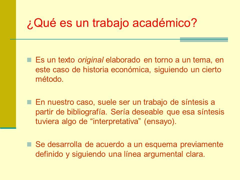 ¿Qué es un trabajo académico