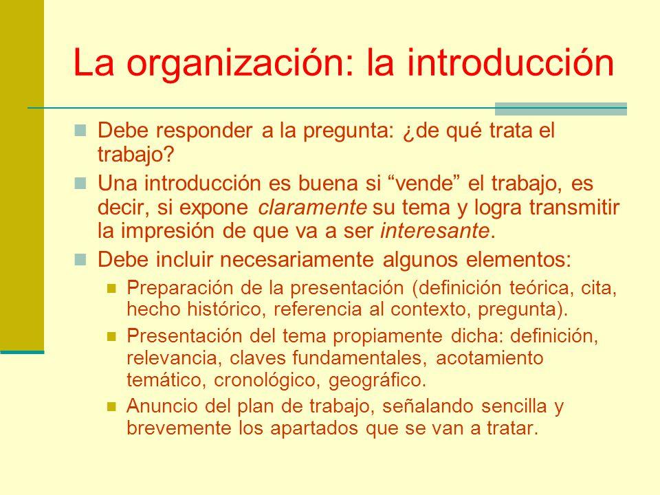 La organización: la introducción
