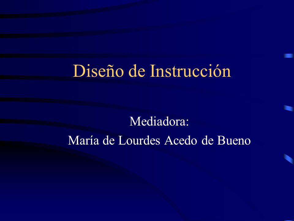 Mediadora: María de Lourdes Acedo de Bueno