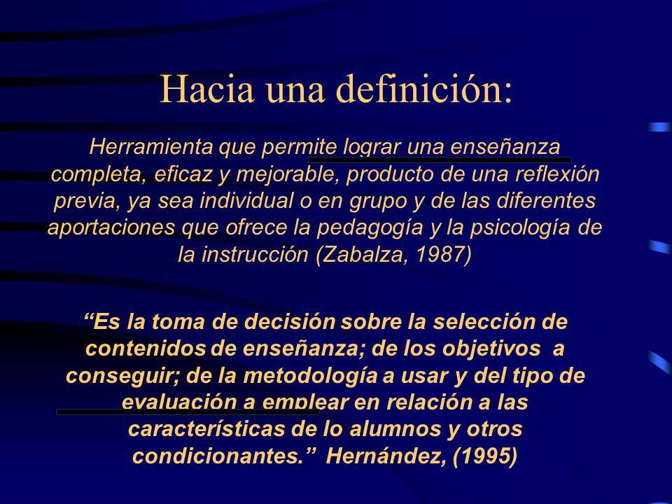 Hacia una definición: