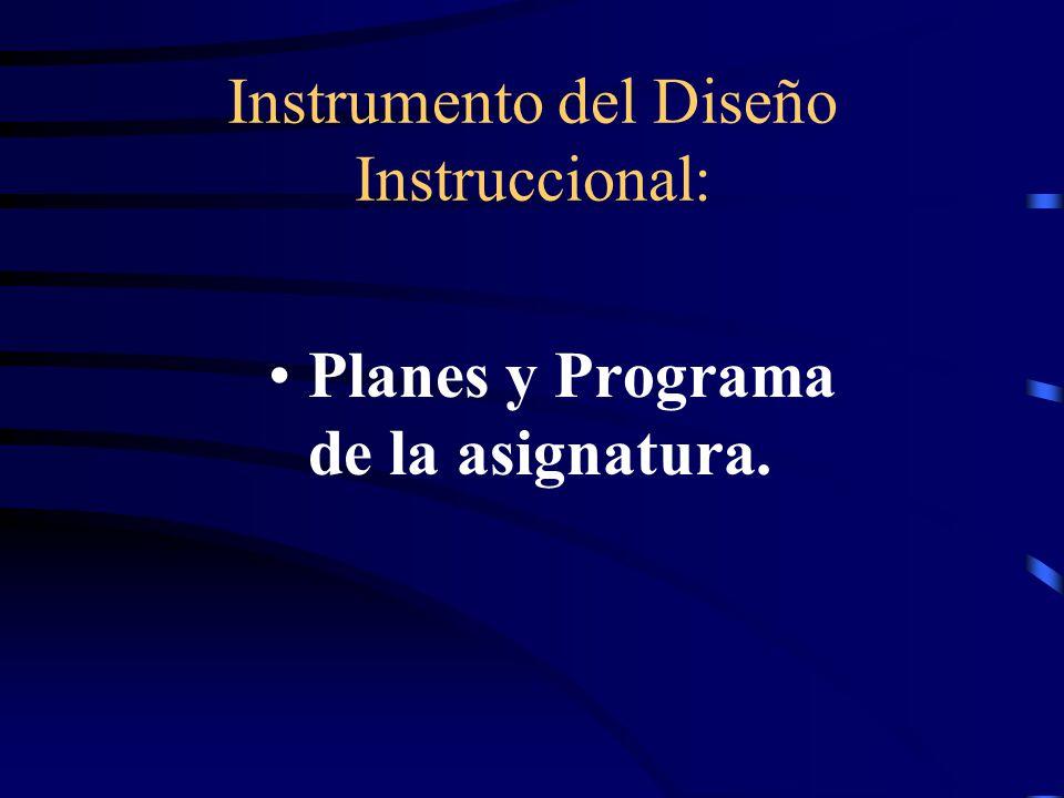 Instrumento del Diseño Instruccional: