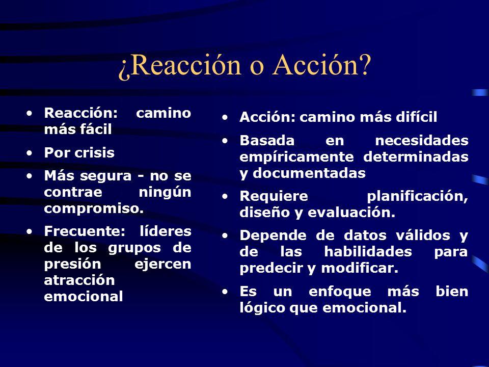 ¿Reacción o Acción Reacción: camino más fácil