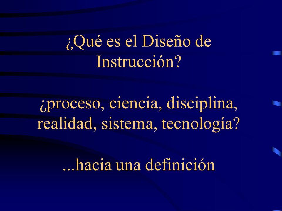 ¿Qué es el Diseño de Instrucción