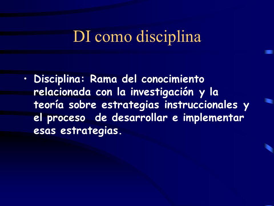 DI como disciplina