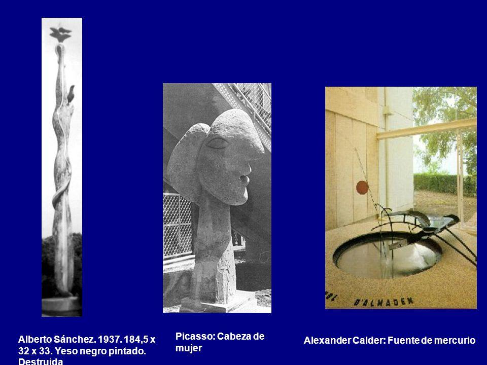Alberto Sánchez. 1937. 184,5 x 32 x 33. Yeso negro pintado. Destruida
