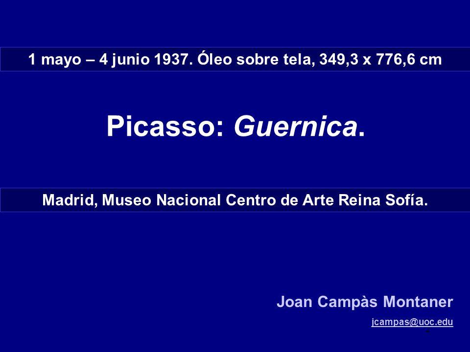 1 mayo – 4 junio 1937. Óleo sobre tela, 349,3 x 776,6 cm