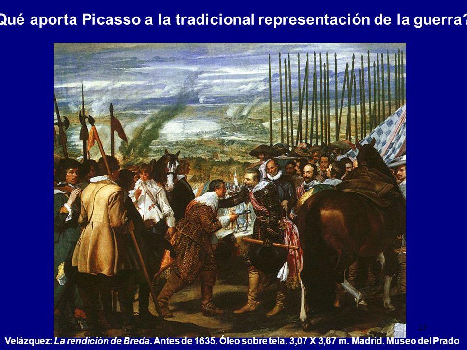 Qué aporta Picasso a la tradicional representación de la guerra