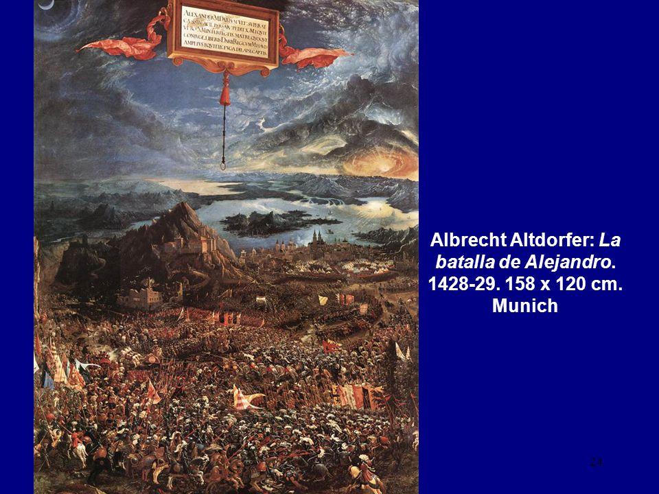 Albrecht Altdorfer: La batalla de Alejandro. 1428-29. 158 x 120 cm