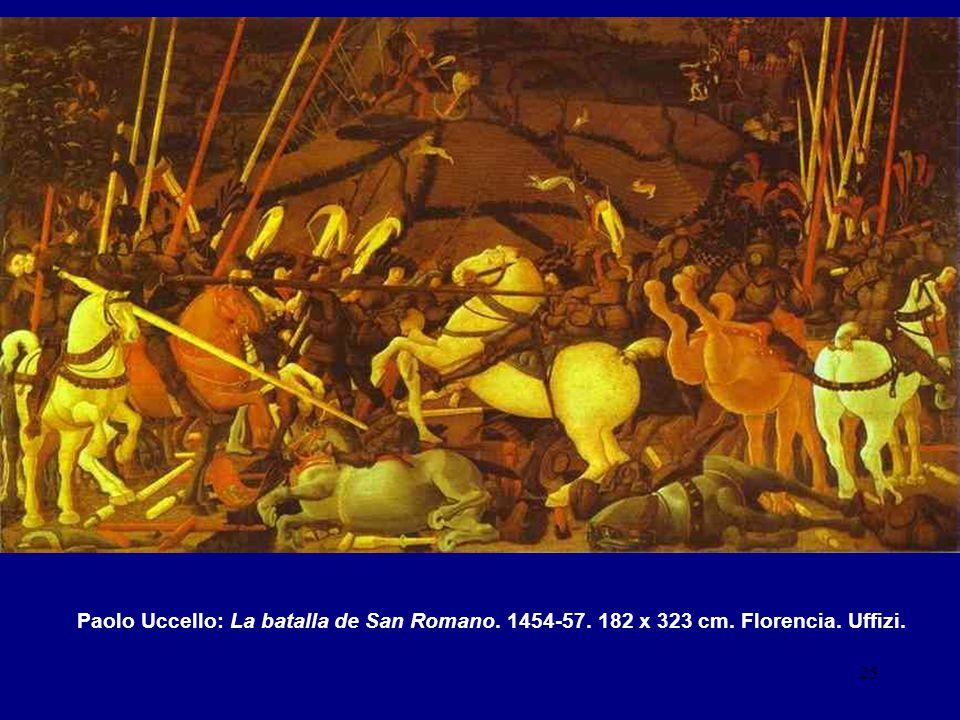 Paolo Uccello: La batalla de San Romano. 1454-57. 182 x 323 cm