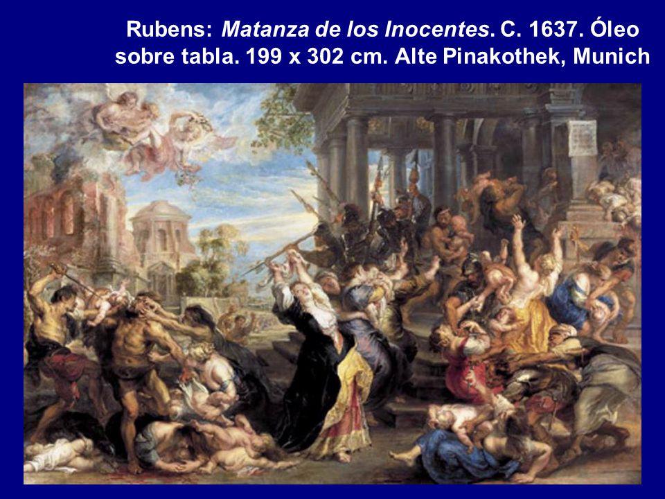 Rubens: Matanza de los Inocentes. C. 1637. Óleo sobre tabla