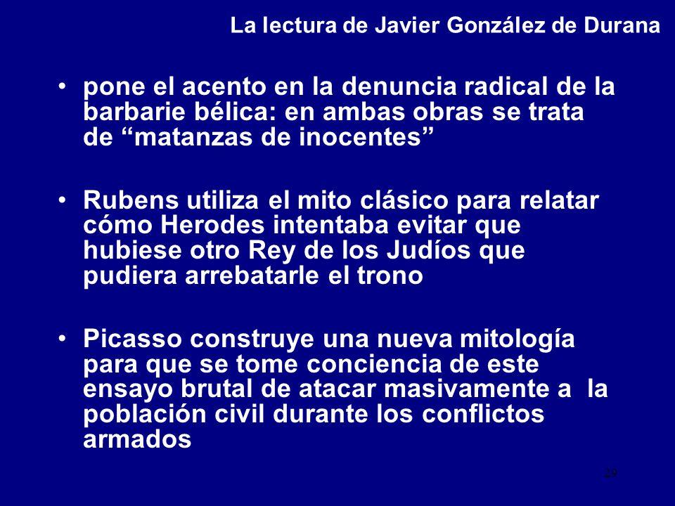 La lectura de Javier González de Durana