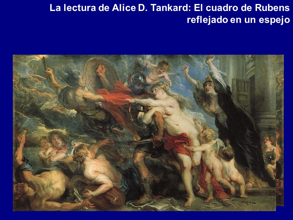 La lectura de Alice D. Tankard: El cuadro de Rubens reflejado en un espejo