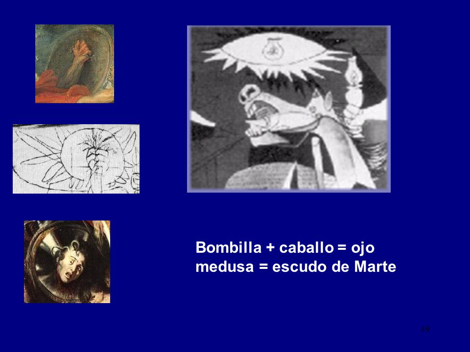 Bombilla + caballo = ojo medusa = escudo de Marte
