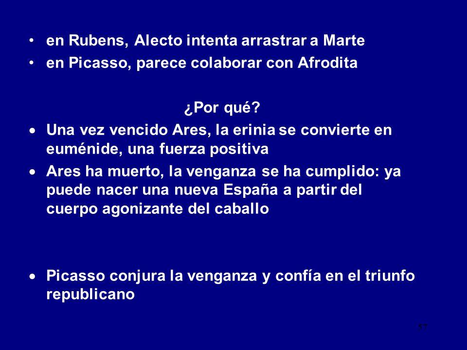 en Rubens, Alecto intenta arrastrar a Marte