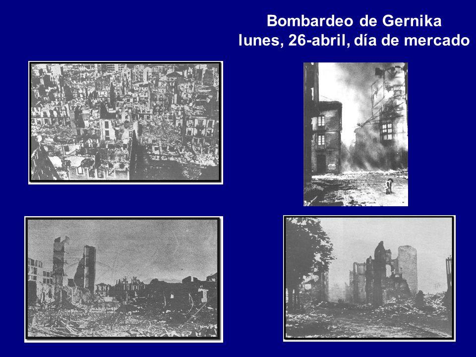 Bombardeo de Gernika lunes, 26-abril, día de mercado